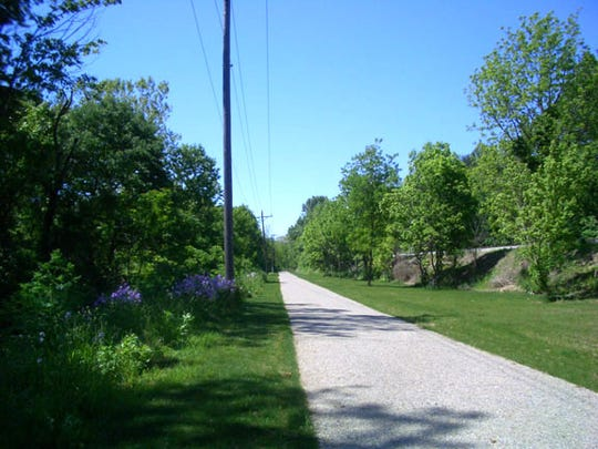 A completed section of the Hanover Trolley Trail in Spring Grove and Jackson Township