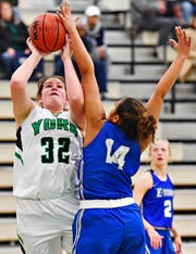 York Suburban grad Molly Day averaged 8.3 points and 4.2 rebounds per game last season for York College before she suffered an injury.