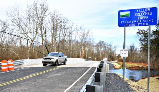 Plenary Walsh Keystone Partners hold a ribbon-cutting ceremony to commemorate the opening of its 500th bridge, as part of the PA Rapid Bridge Replacement project, on Andersontown Road, spanning Yellow Breeches Creek into both Fairview and Lower Allen Townships, Thursday, Nov. 29, 2018. Dawn J. Sagert photo