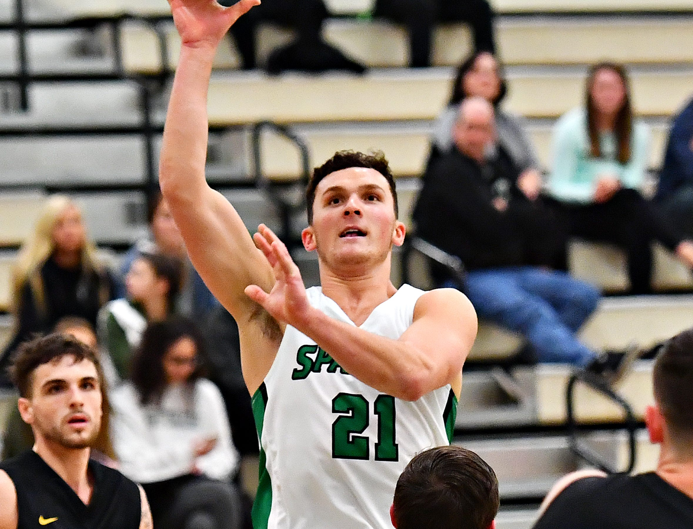 York College vs Gwynedd-Mercy during men's basketball action at Grumbacher Sport and Fitness Center in Spring Garden Township, Wednesday, Nov. 28, 2018. Dawn J. Sagert photo