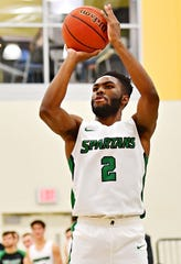 Jason Bady, seen here in a file photo, had 17 points and five assists in York College's road win vs. Southern Virginia on Saturday.