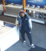 Police are searching for two men who they say stole $5,000 worth of iPhones from an AT&T store Wednesday, Nov. 28. Photo courtesy of Northern York County Regional Police.
