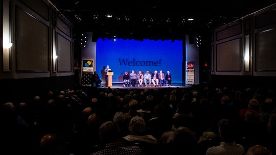 The Belmont Theatre was sold out for history night. Yorkers were eager to hear the panel of historians talk about their favorite images that tell stories about York County's past, November 28, 2018