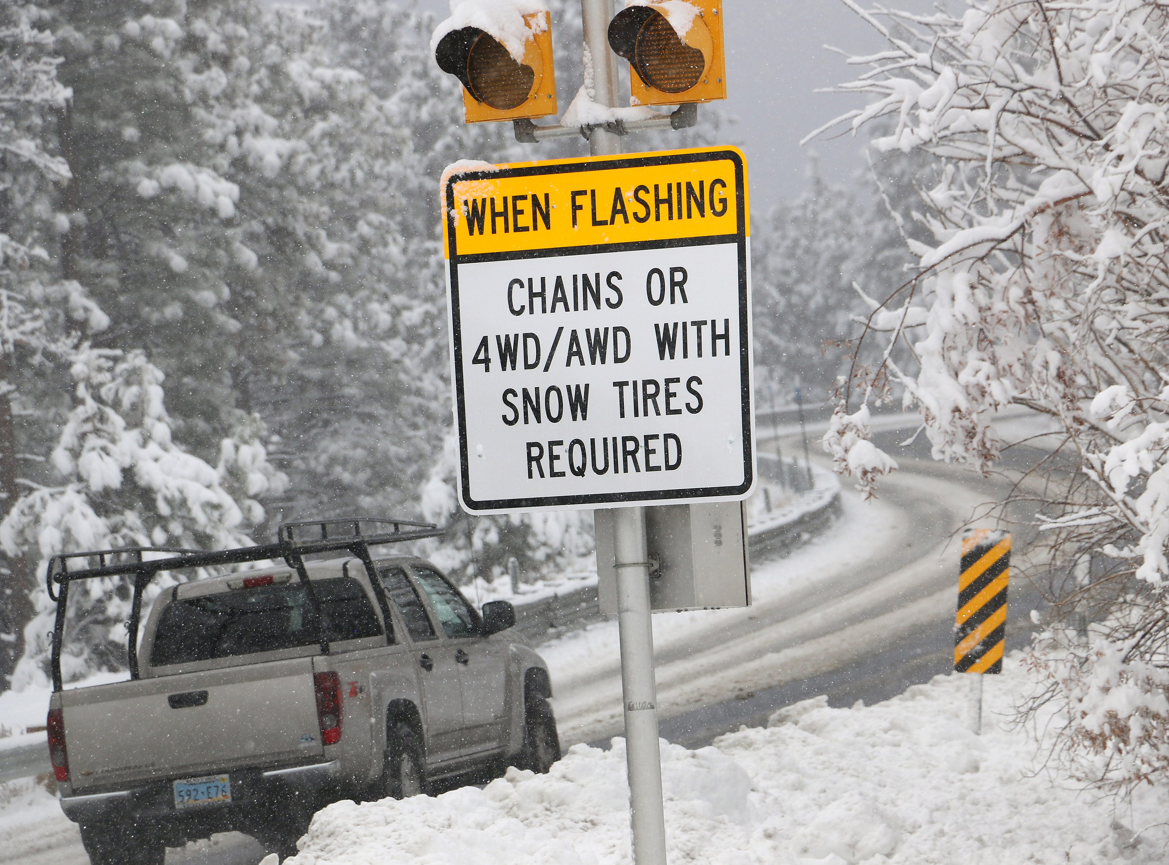 Winter weather: Chain controls over Sierra passes, but little moisture expected in Reno-Sparks