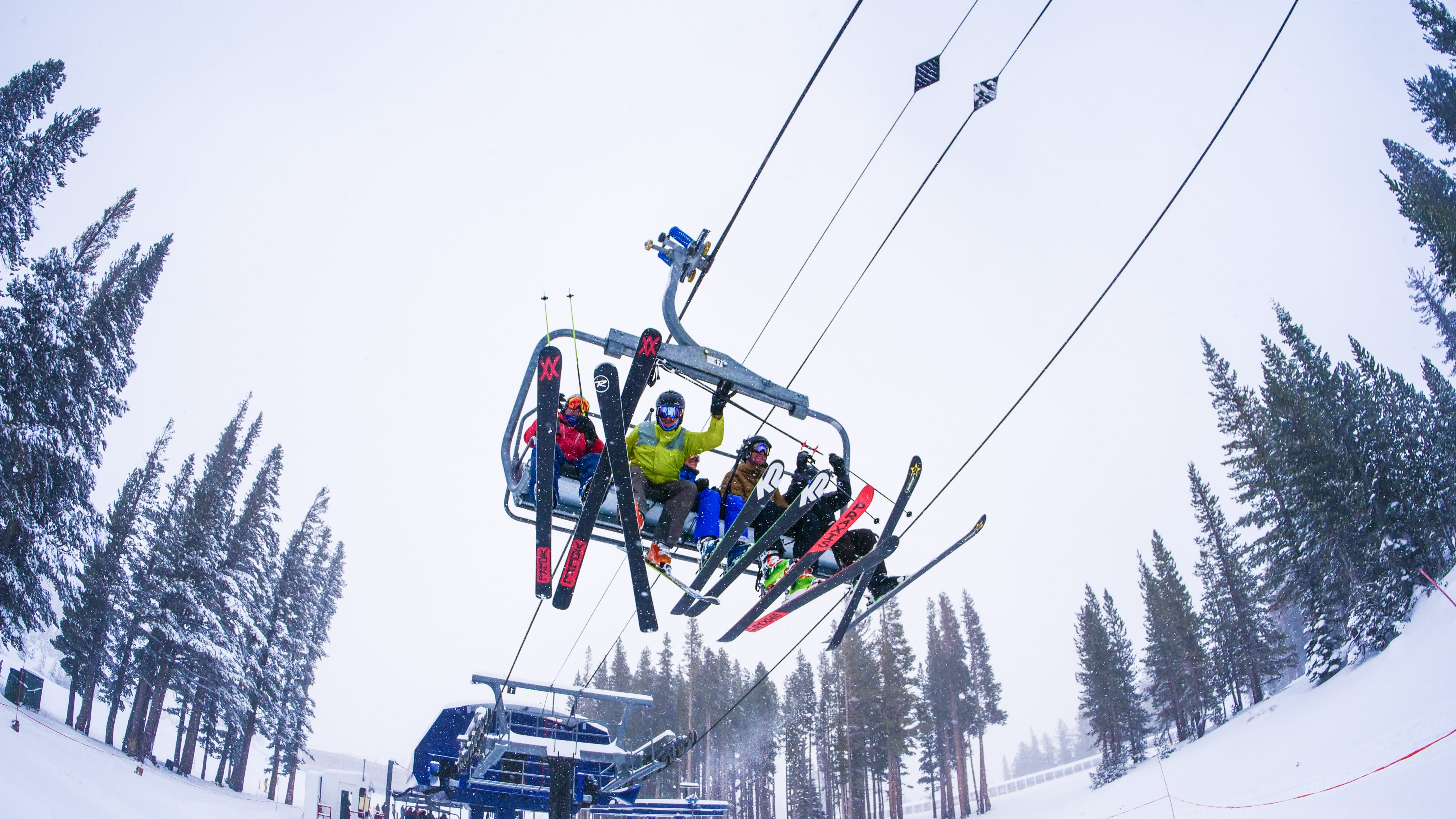 """Skiers soar over new snow at Mt. Rose Ski Tahoe on Thursday, Nov. 29, 2018. The resort got 14"""" of new snow in 24 hours, with more in the forecast."""