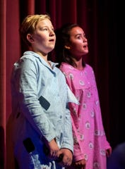 """Gracie Jeka, left, and Jaimee Kersch perform """"When Christmas Comes To Town."""""""