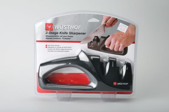 Hand held knife sharpener at Cooks' World Brighton for $9.99