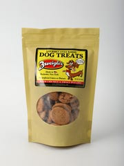 Zweigle's doggie treats made from all natural ingredients, $6.99 at Calabresella's, Gates.