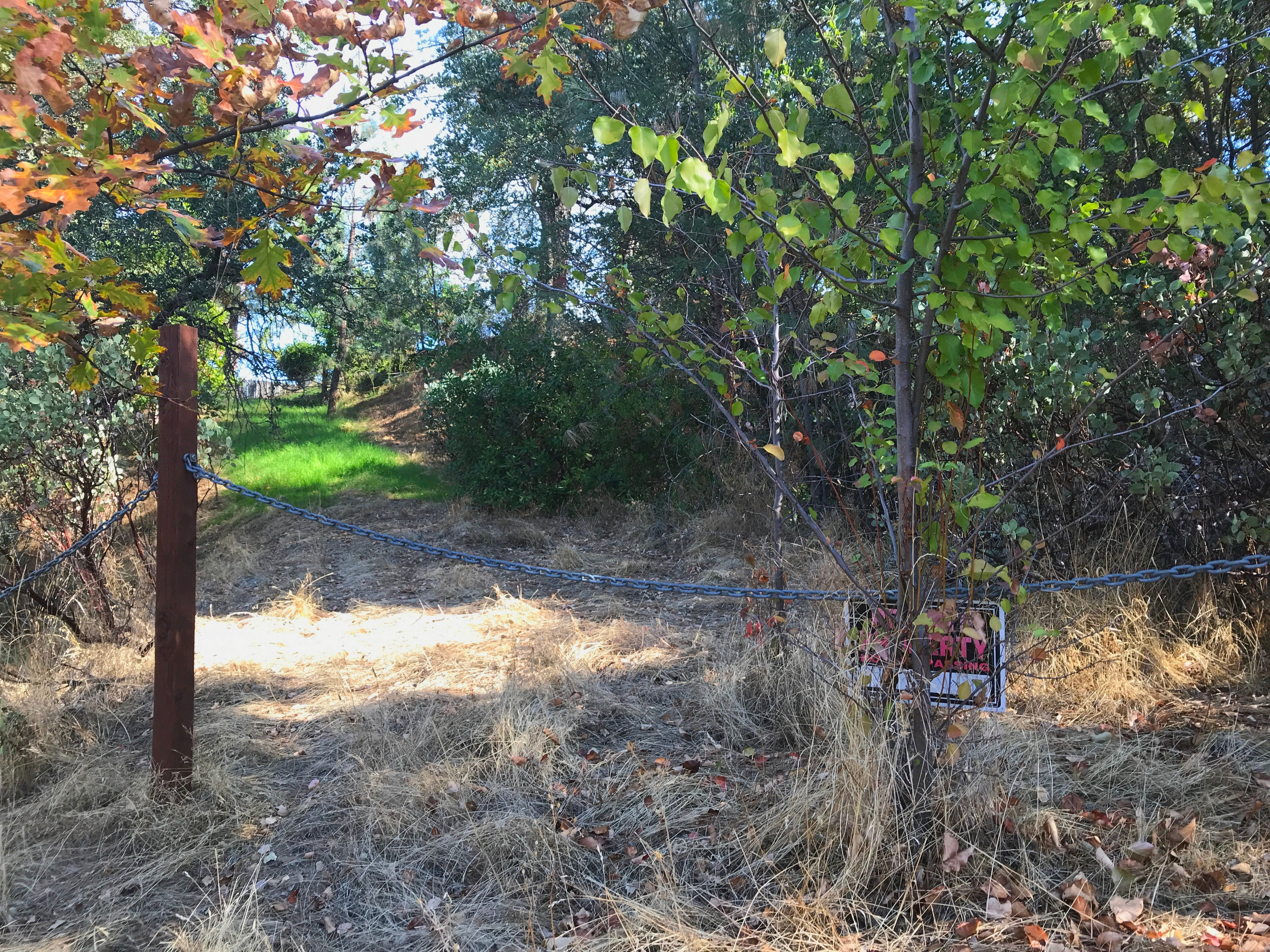 """An old fire-apparatus road in south Redding that needs work to better protect homes uphill. """"It doesn't do us any good if it's not maintained,"""" Redding Fire Marshal Craig Wittner said."""