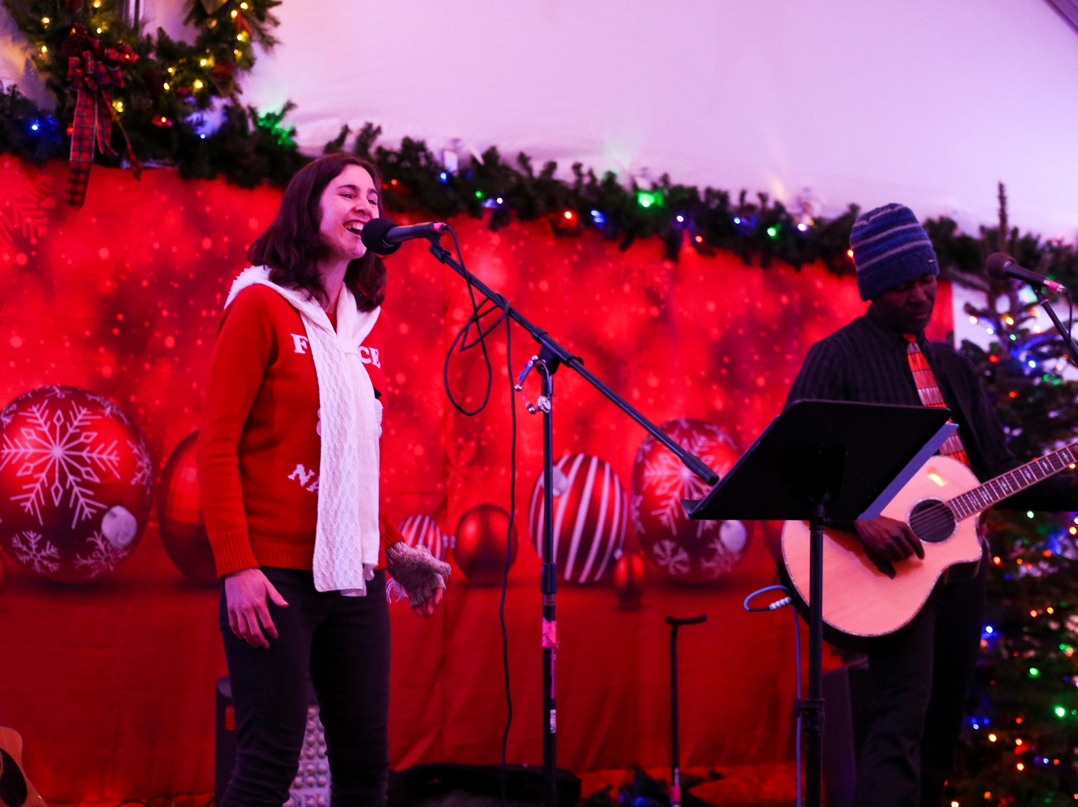 Christmas in the Garden is set up at the Oregon Garden Resort on Wednesday, Nov. 28, 2018, in Silverton. The winter wonderland features live music.