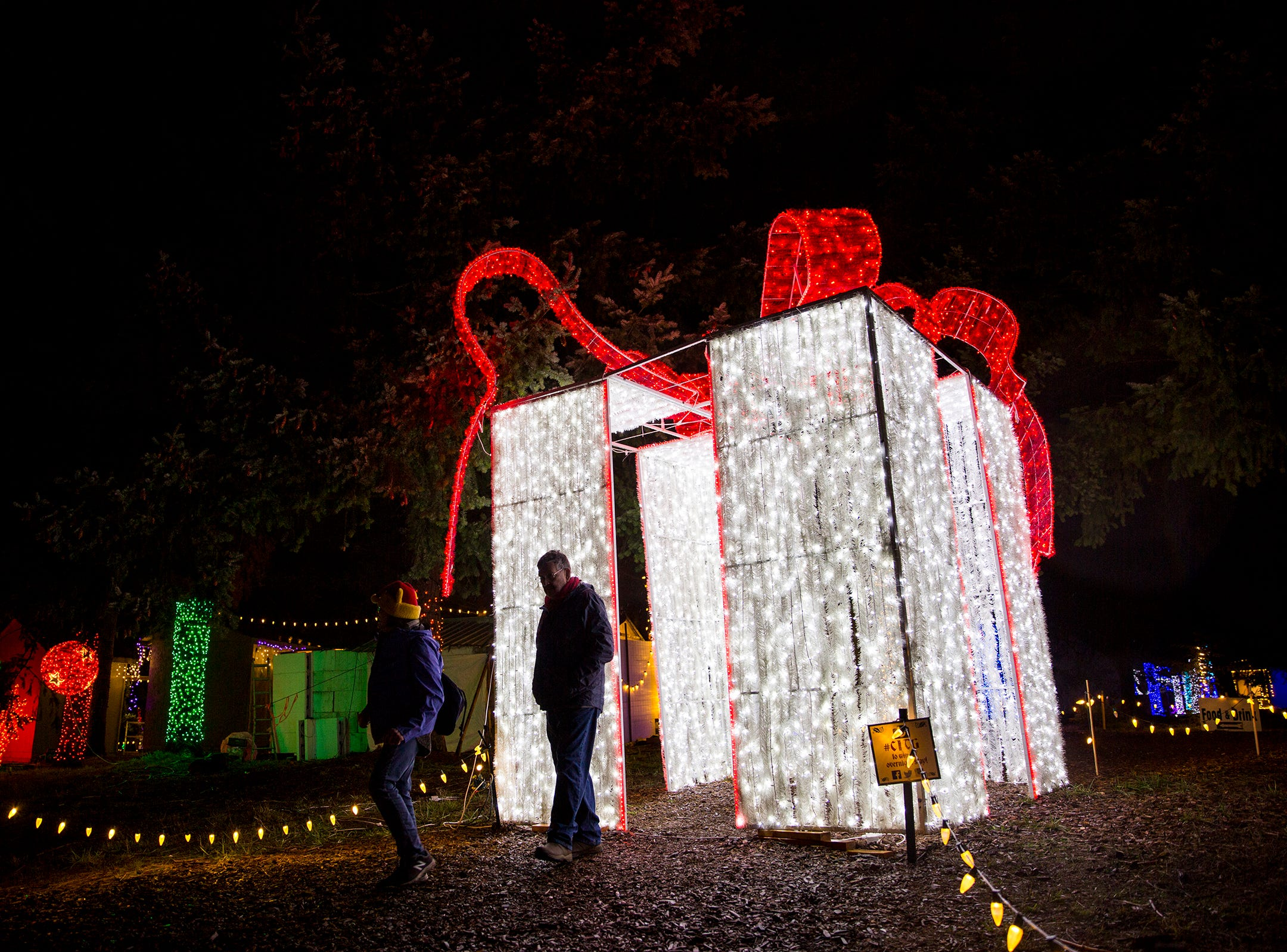 Christmas in the Garden is set up at the Oregon Garden Resort on Wednesday, Nov. 28, 2018, in Silverton. The winter wonderland, which features one million lights, is on display through Dec. 31.