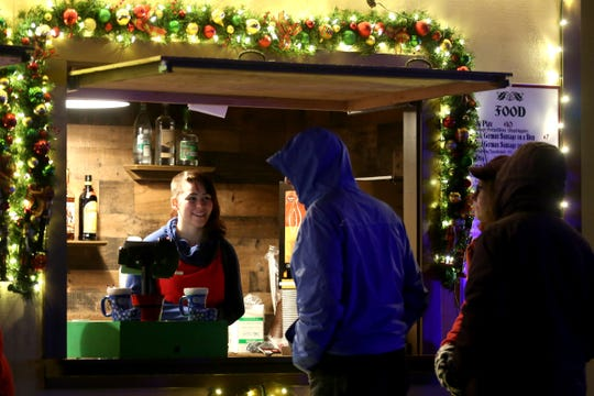 Christmas in the Garden is set up at the Oregon Garden Resort on Wednesday, Nov. 28, 2018, in Salem. The winter wonderland features food, drinks and other vendors.