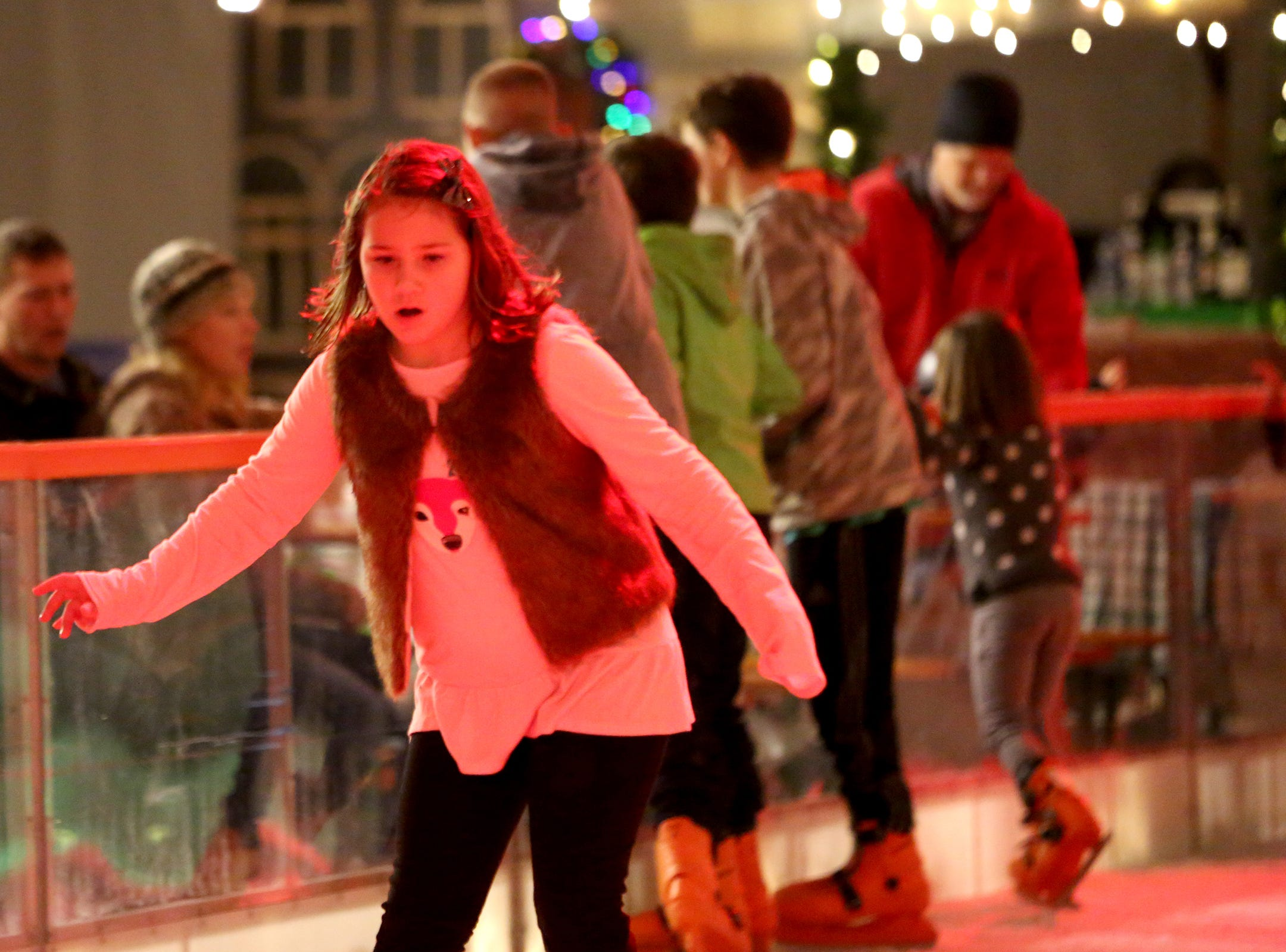 Christmas in the Garden is set up at the Oregon Garden Resort on Wednesday, Nov. 28, 2018, in Silverton. The winter wonderland features an ice skating rink.