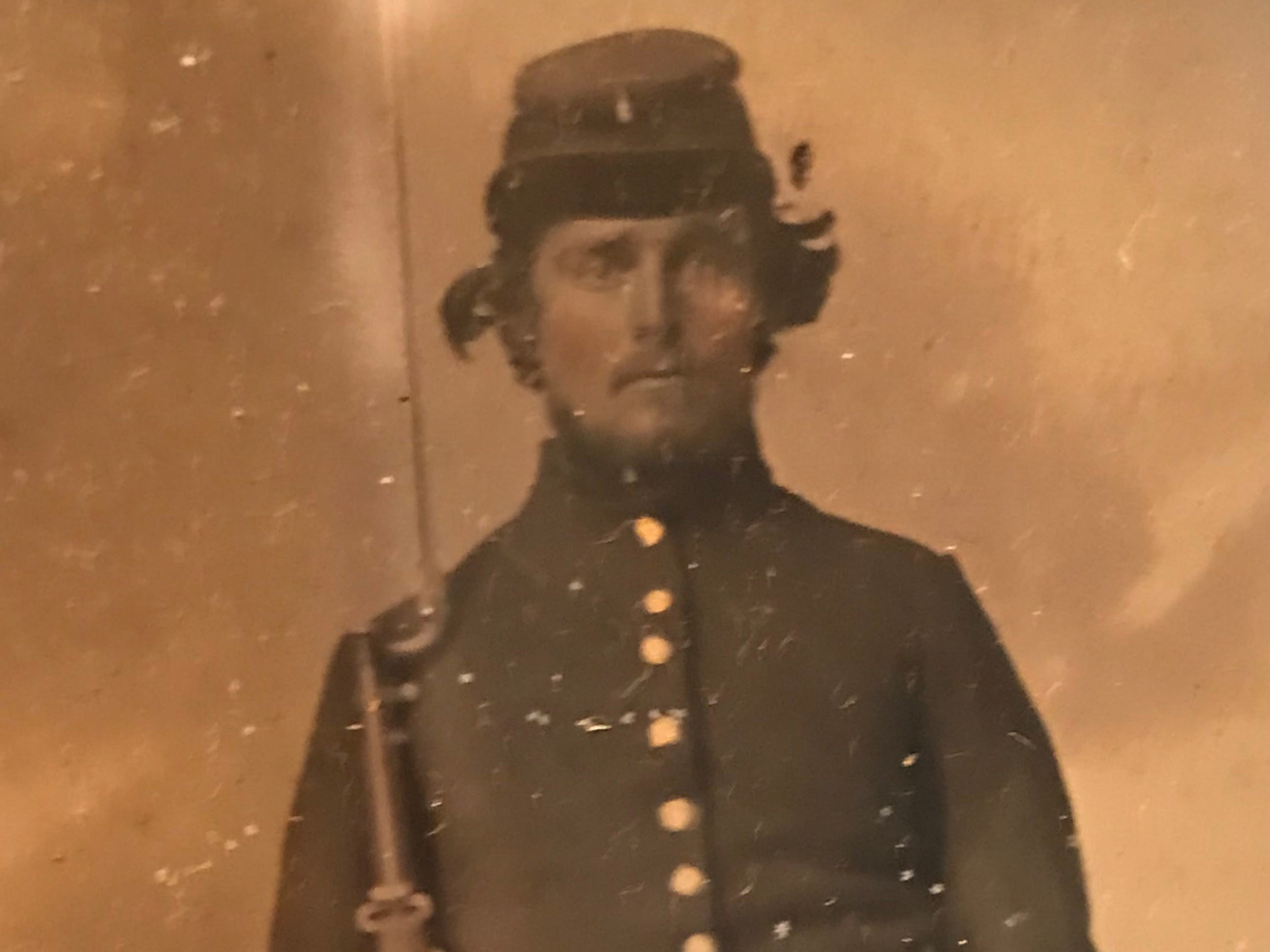 Photograph of an unknown Civil War soldier.
