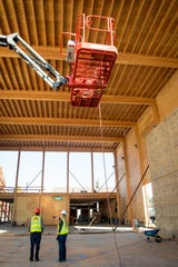 The new Advanced Wood Products Laboratory at Oregon State University is being constructed with Mass Plywood Panels from Freres Lumber Company.