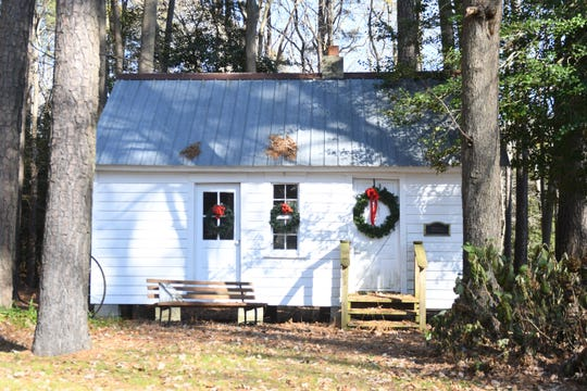 A building that Frankford resident Carol Hurley said was once slave house sits on her property near Ocean View, Delaware. The owners say the 1850's house was relocated to their property from the Hall Farm in Bayard, Delaware.