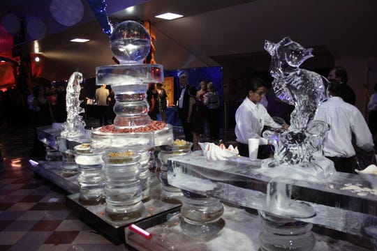Ice sculptures will return to Christmas in the Sky: Broadway on Dec. 8.