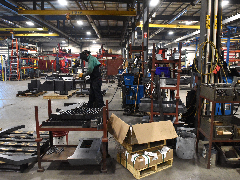 The interior of DeGeest Steel Works in Tea, S.D., Thursday, Nov. 29, 2018.