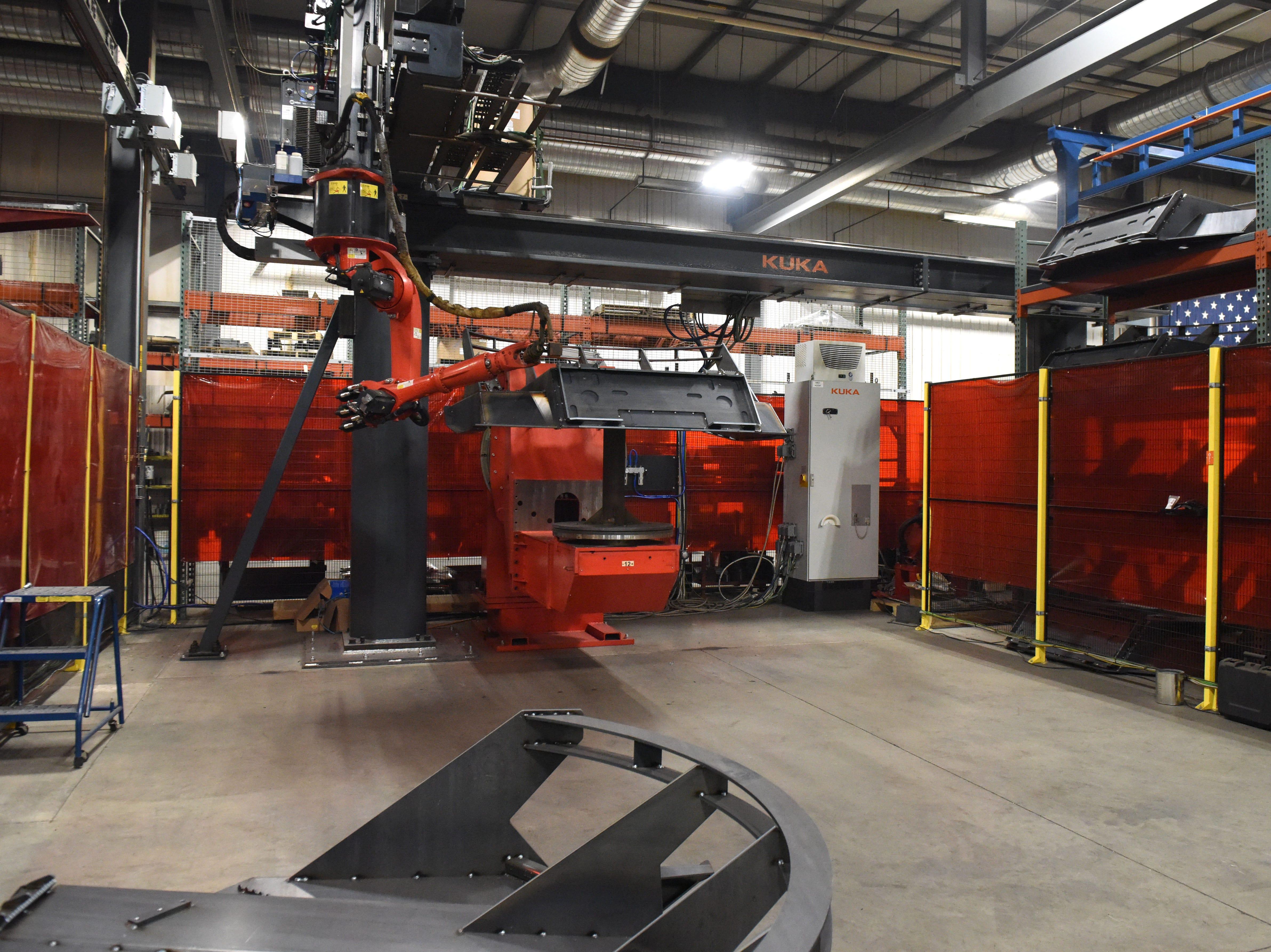 Interior of DeGeest Steel Works in Tea, S.D., Thursday, Nov. 29, 2018.
