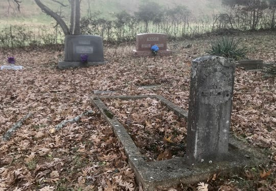 Cupp Cemetery is just off Highway 65 in Walnut Shade.
