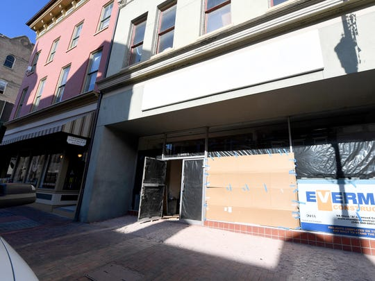 Renovations continue inside 5 East Beverley Street in downtown Staunton on Thursday, Nov. 29, 2018. The first floor will be used by Hammond Insurance Services while the second floor will be used as special event space.