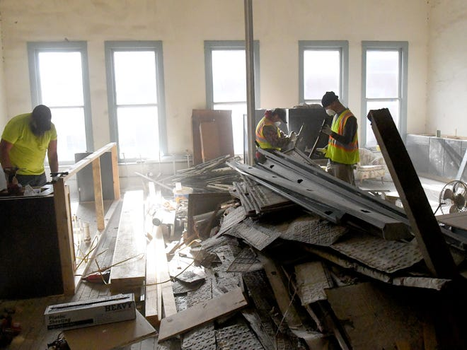 View of the second floor as renovation work continues at 5 East Beverley Street in downtown Staunton on Thursday, Nov. 29, 2018. The first floor will be used by Hammond Insurance Services while the second floor will be used as special event space.
