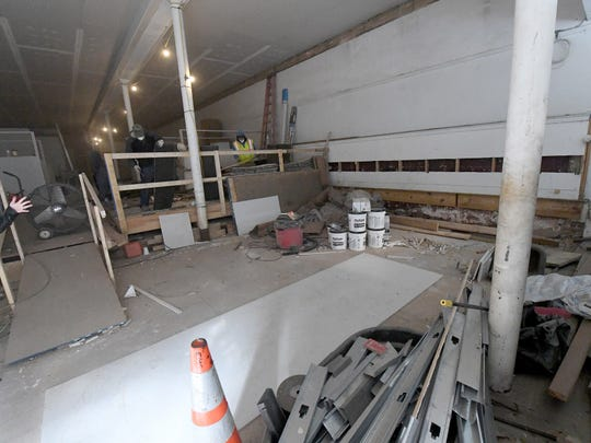 View of the first floor as renovation work continues at 5 East Beverley Street in downtown Staunton on Thursday, Nov. 29, 2018. The first floor will be used by Hammond Insurance Services while the second floor will be used as special event space.