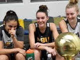 Mary Baldwin University freshmen Demet Saygili, Leah Calhoun and Hannah Varner talk about how they ended up at MBU and got their nicknames during a 1-on-3 interview reporter Patrick Hite.