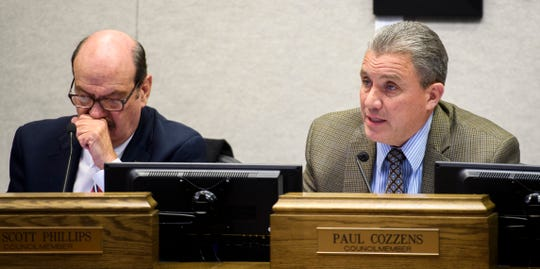 Cedar City councilman Paul Cozzens comments about renovating a building at the bicentennial softball complex during the Cedar City Council meeting Wednesday, November 28, 2018.