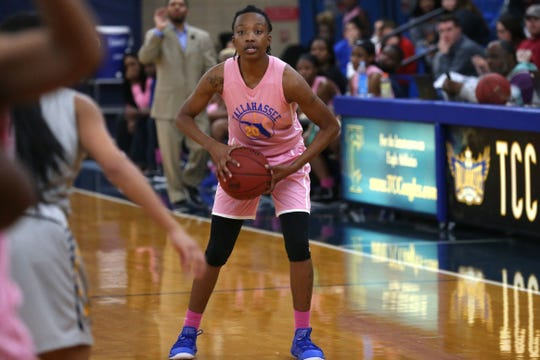 TCC guard Daisha Bradford is the on-the-floor leader for the Eagles. The sophomore is one of two returners for the 2019-20 season.