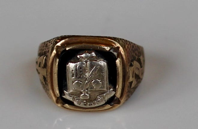 A Leon High School class ring found on the beach in Walton County by Bruce Johnson. He's searching for its rightful owner.