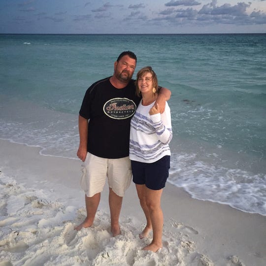 Bruce and Shelly Johnson. Bruce found a Leon High School class ring while walking on the beach in Walton County. He's searching for its rightful owner.