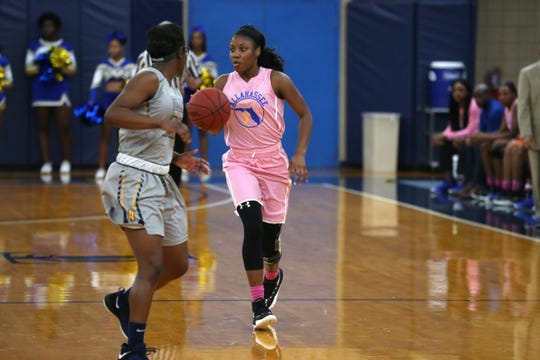 TCC guard Aliyah Lawson looks to set up  a play against Andrew College. The sophomore was recently named as an Arthur Ashe Jr. Sports Scholar for maintaining a 4.0 GPA.