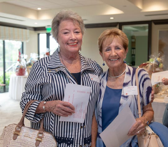 Barbara LaMirand and Connie Heidt at the Salvation Army Women's Auxiliary 2018 Wings of Hope luncheon in Palm City.