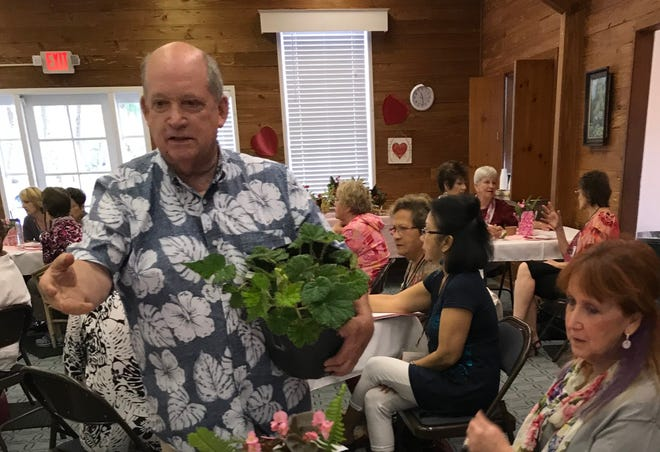 Speaker Patrick Dempsey discusses plant care at Garden Club of Fort Pierce. He will be the Kokedama Workshop presenter on Dec. 5. Attendees will learn to start their own String Garden or make a gift for someone special.