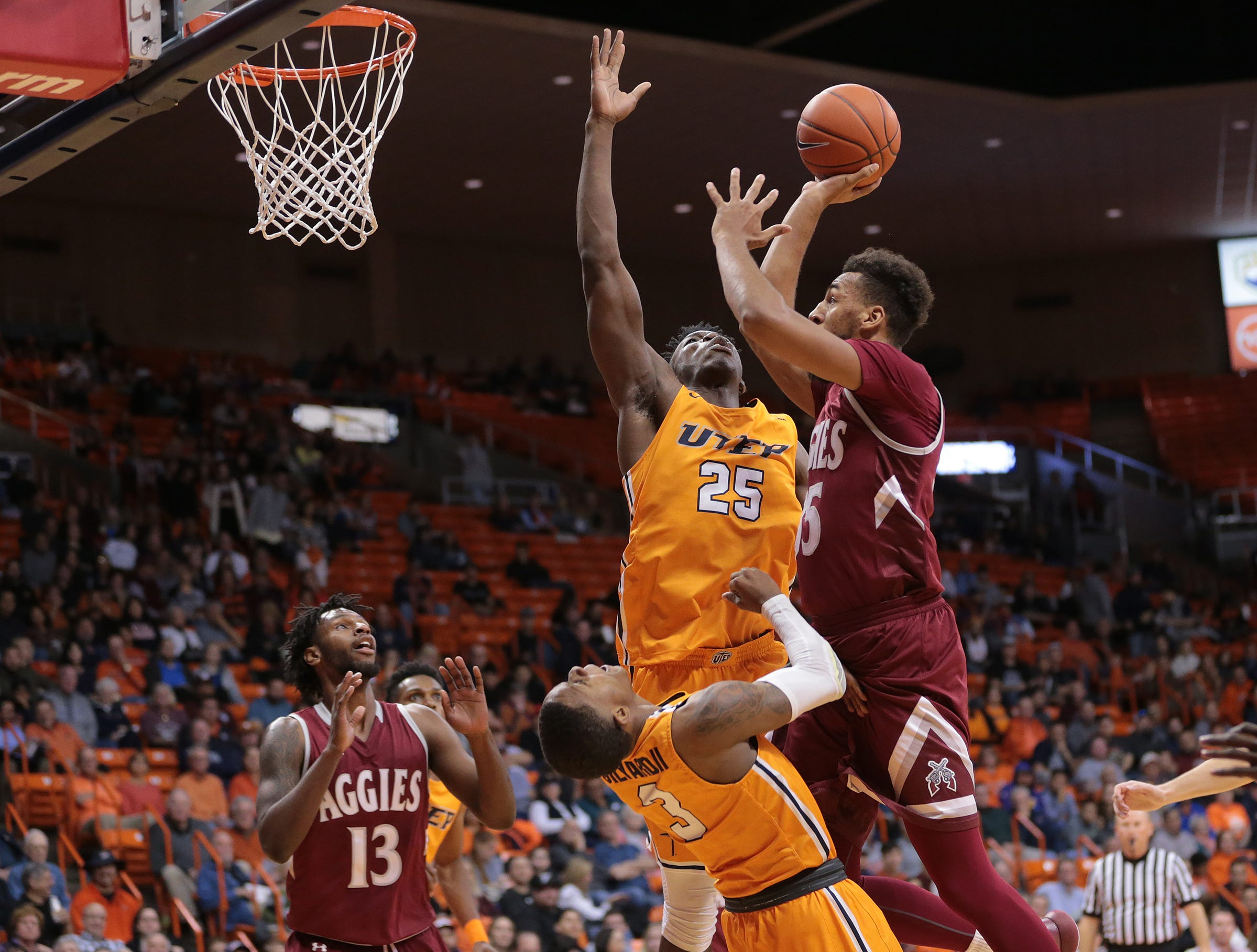 UTEP battled NMSU on Wednesday night at the Don Haskins Center. NMSU held on to win, 62-58.