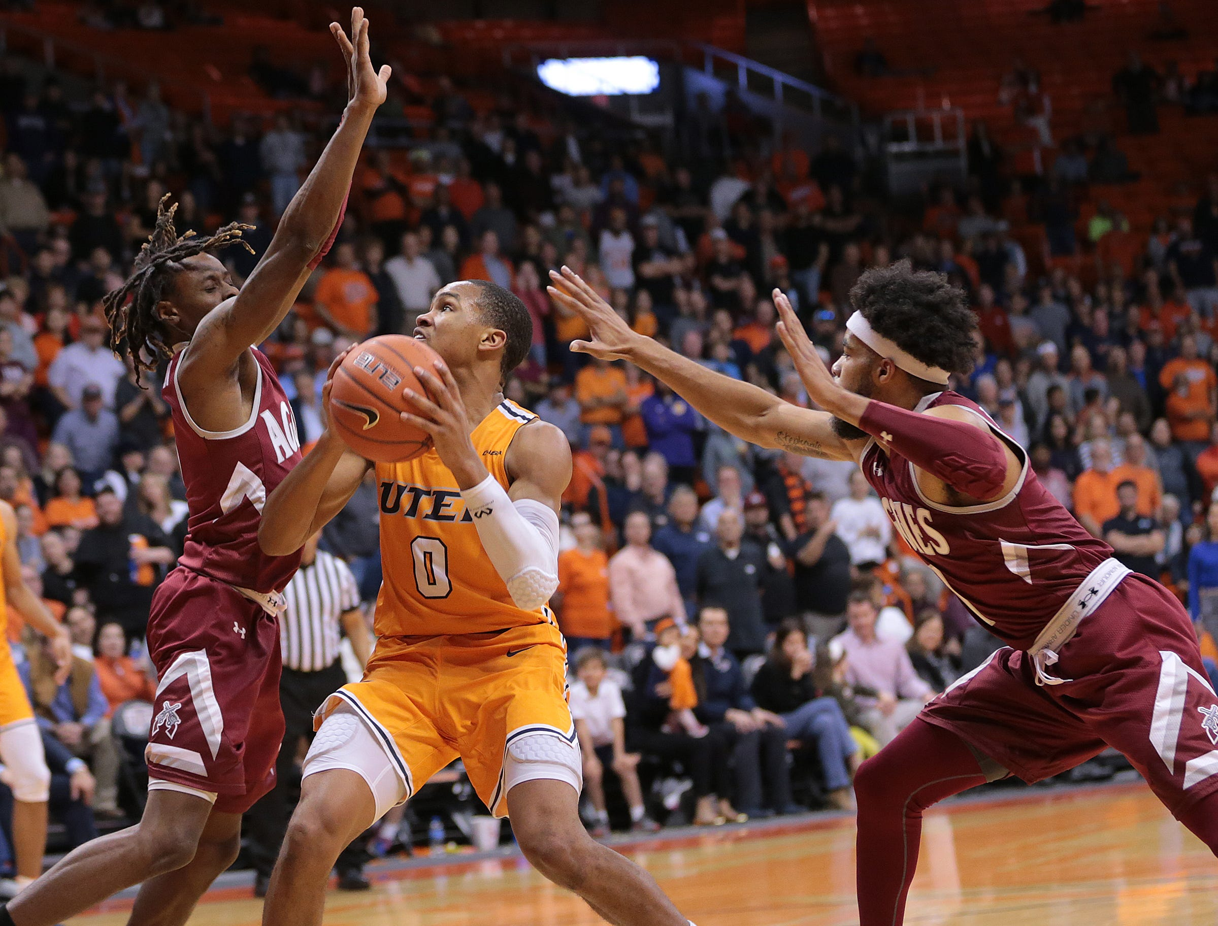 UTEP battled NMSU on Wednesday night at the Don Haskins Center. NMSU held on to win 62-58.