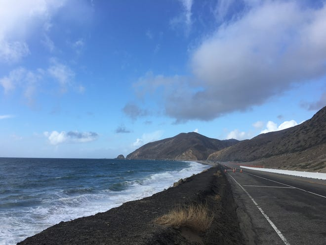 A washout has closed a shoulder on Pacific Coast Highway in Ventura County.