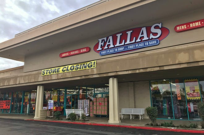 Tulare's Fallas is closing after Christmas. National Stores filed bankruptcy in August, which forced the closure of several Valley retailers.