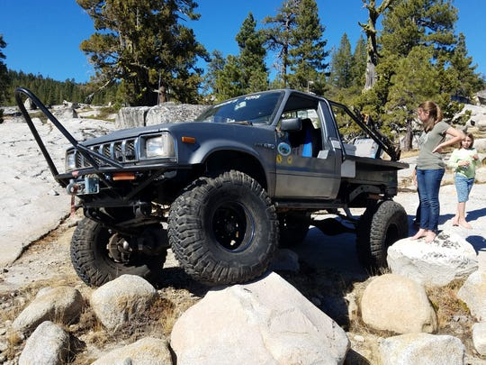 Bill Taylor's beloved rock-crawler. Before the fire, the Taylors would take the vehicle off-roading in the Sierra Nevada mountains.
