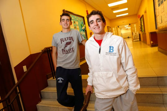 Alex (left) and Matt Rizzo, members of the Bronxville High School cross country team, credit their relationship to help motivate each other to do better at the sport.