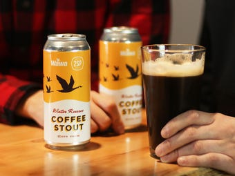 Eager customers packed out a Wawa store Thursday, Dec. 6 in Chadds Ford, Pennsylvania. A line wrapped around the building as reps from 2SP Brewing Co. tapped the keg, marking the first day of sales for the Wawa Coffee Stout.