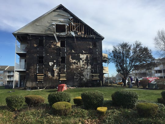 Fire investigators estimated the damage to a Rockwood Apartments building at $150,000 after part of it burned Wednesday night. Six units were damaged and 15 residents were displaced.