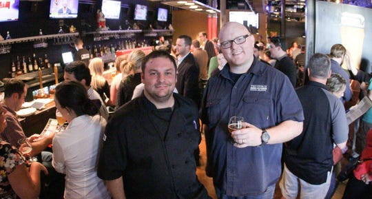 2SP Brewing Co. co-owner Michael Stiglitz (left) and Ben Muse at the opening of Two Stones Pub in Brandywine Hundred in 2012.