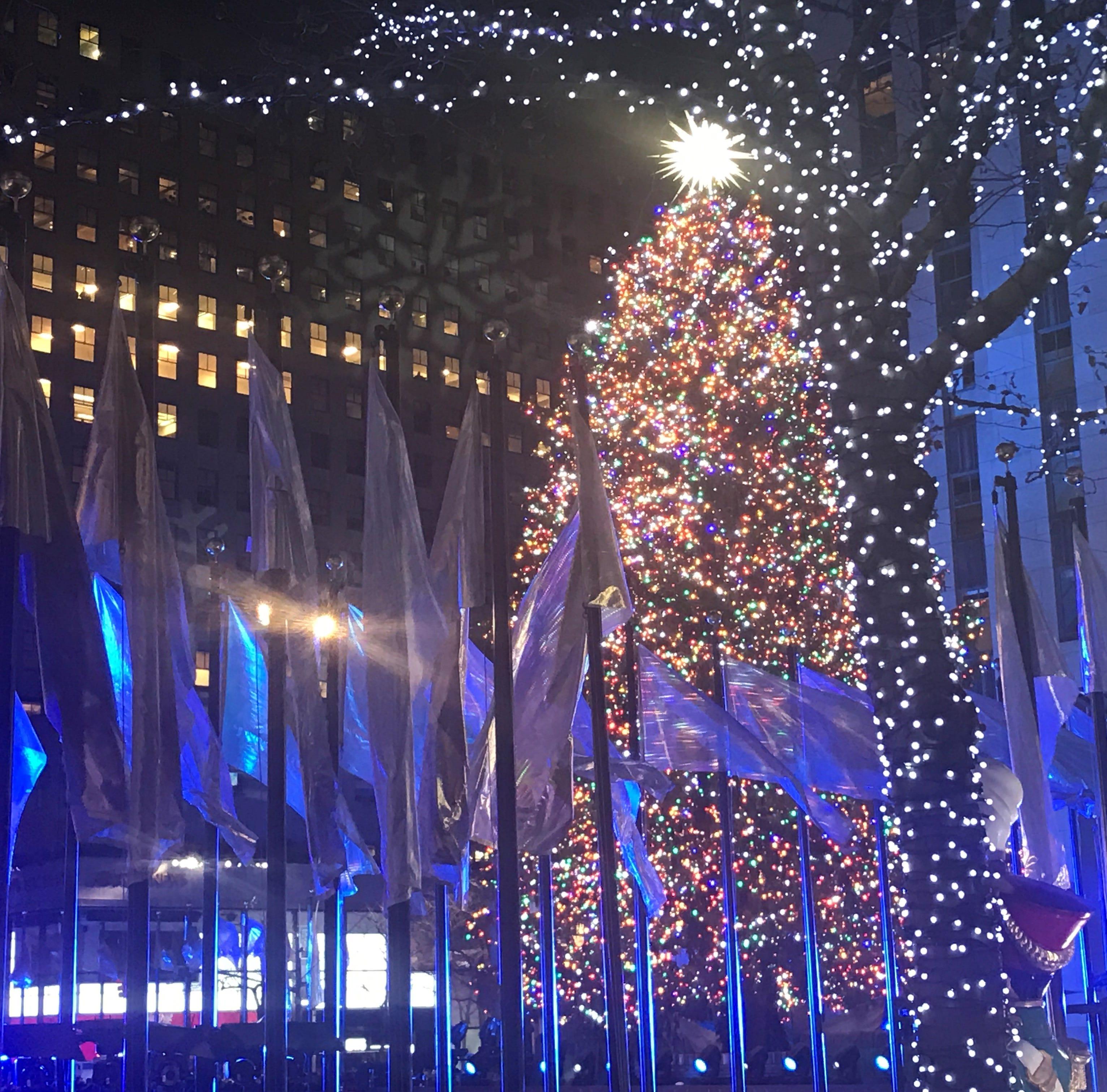 The Rockefeller Christmas Tree has been lit.
