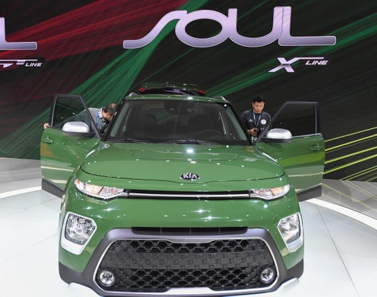The Soul X line was introduced by Kia during press preview day at Los Angeles Auto Show.