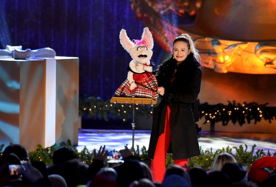 Darci Lynne and Petunia perform at the 2018 Rockefeller Center Christmas Tree Lighting Ceremony.