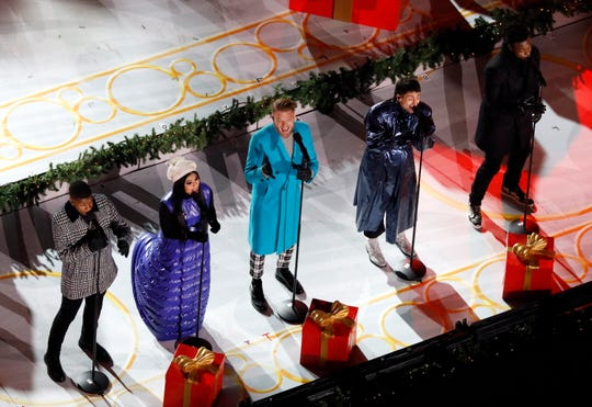 "Pentatonix opened ""Christmas at Rockefeller Center"" with ""It's Beginning to Look a Lot Like Christmas."""