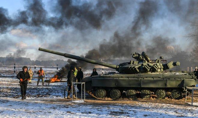 Military training in the Chernihiv region of Ukraine on Nov. 28, 2018.