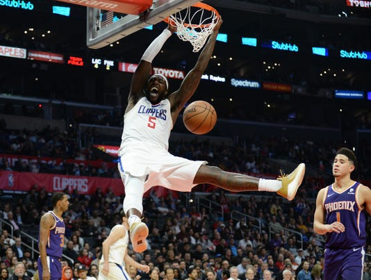 Usp Nba Phoenix Suns At Los Angeles Clippers S Bkn Lac Phx Usa Ca